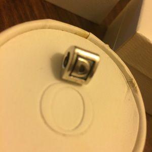 Pandora Sterling Silver Letter D Charm